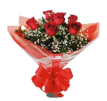 Buqu� Tradicional de 6 Rosas - BT01