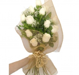 Buqu� de Rosas Brancas - OT06