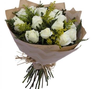 Buqu� de Rosas Brancas - BT23