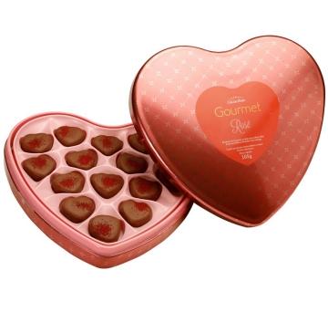 Chocolate Cora��o Gourmet Rose Cacau Show - 7001
