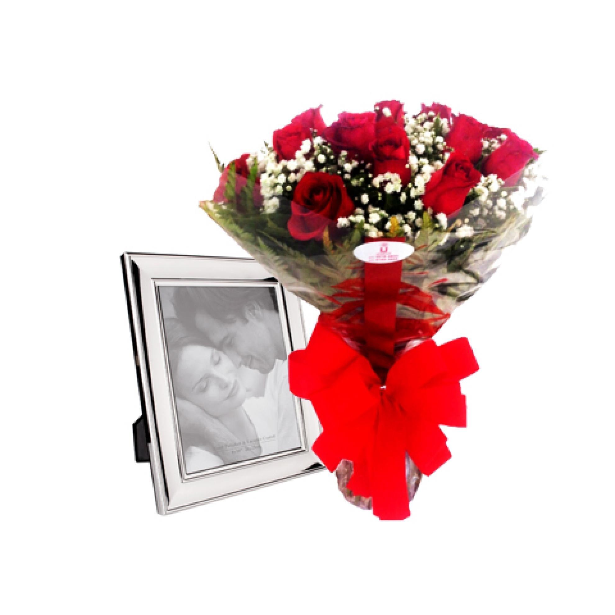 Buqu� de Rosas com Porta Retrato - AC08