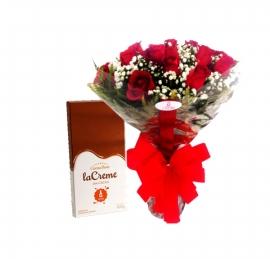 Buqu� de Rosas com Chocolate 100g Cacau Show - 1089