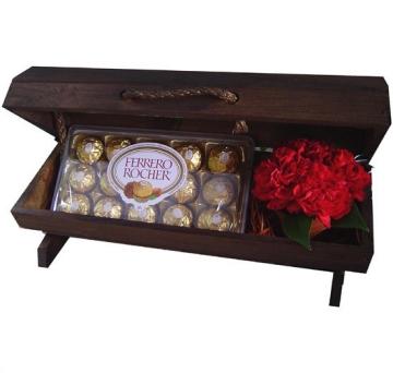 Ba� de flores com Ferrero Rocher - BAU02