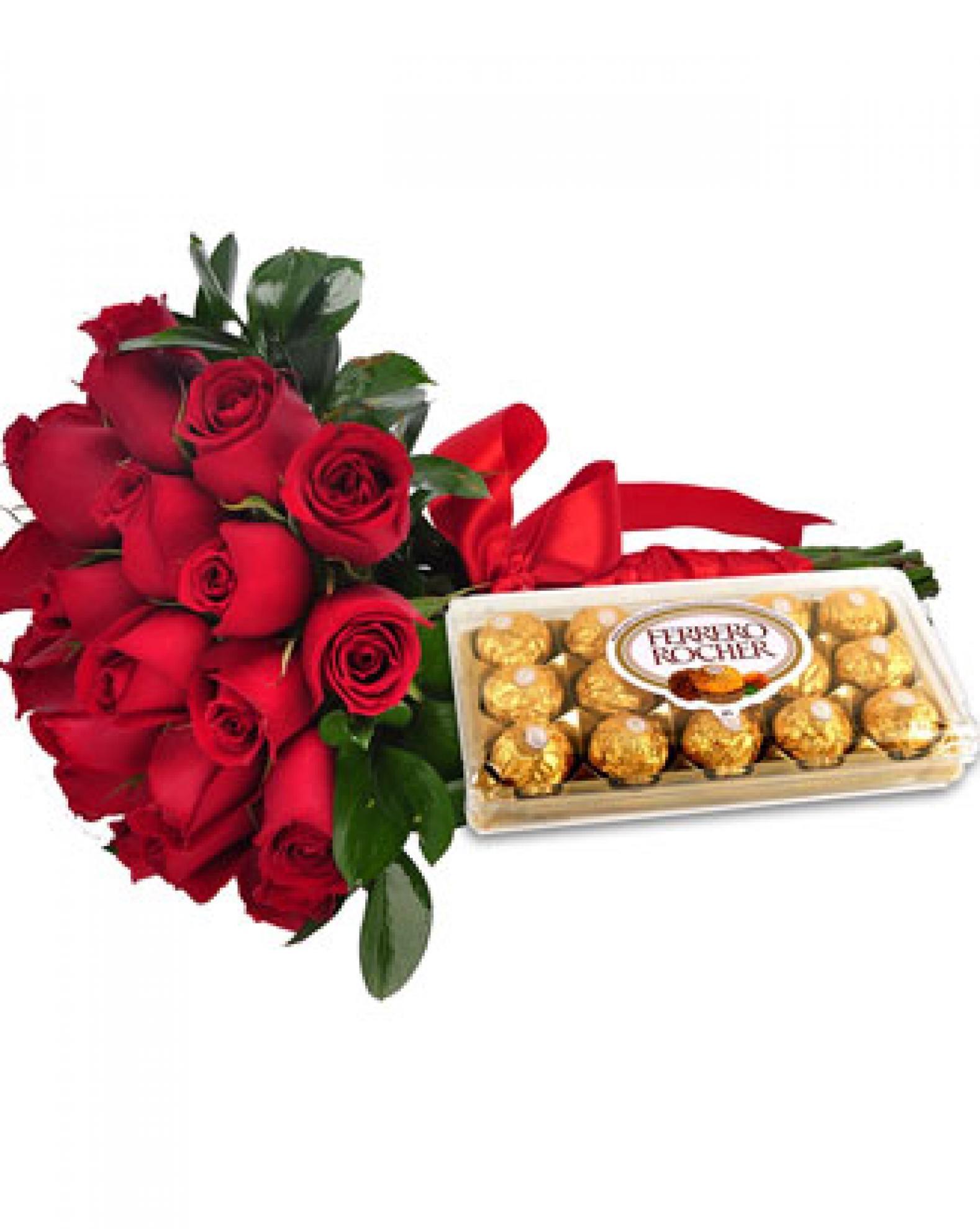 Buqu� 30 Rosas com Ferrero Rocher - AC12