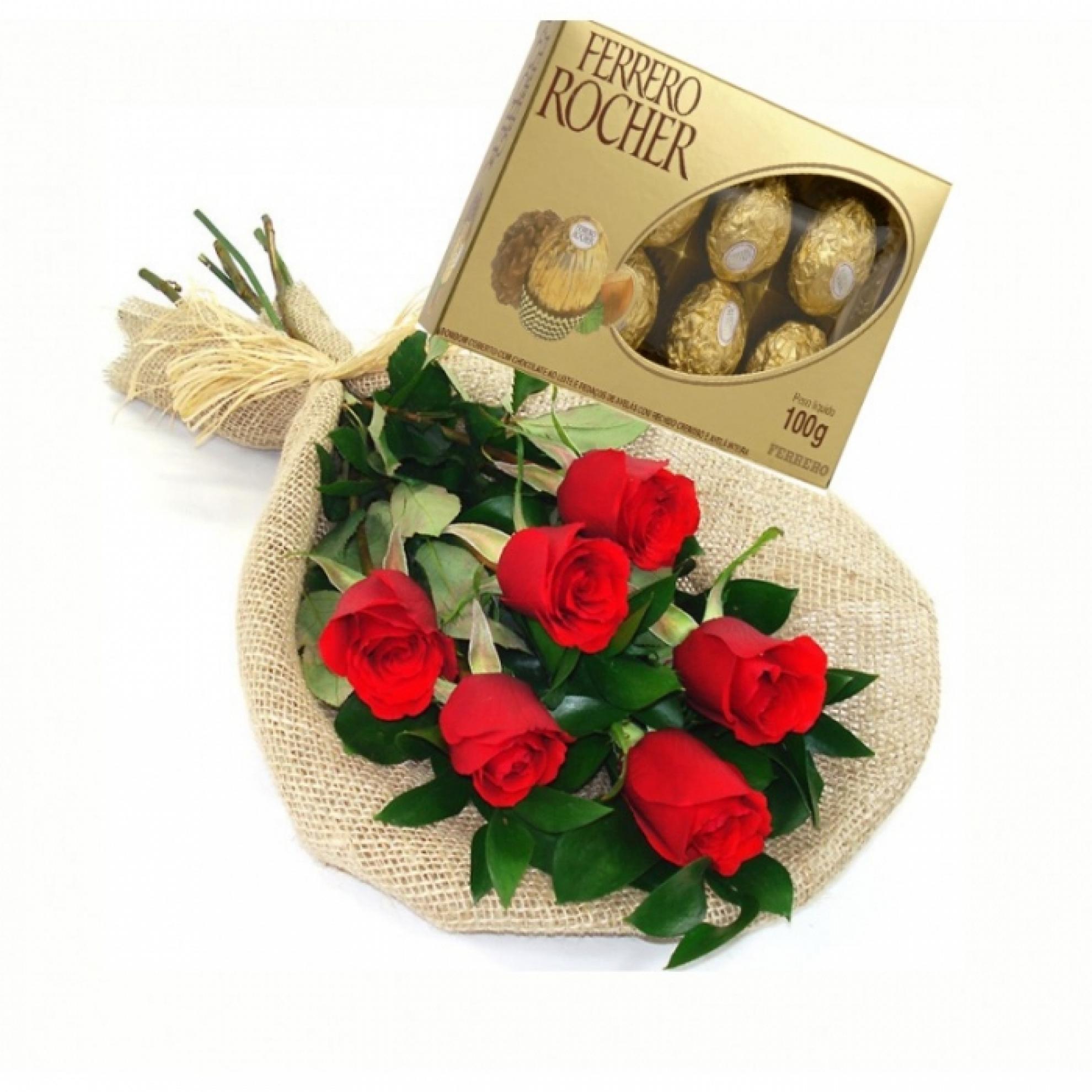 Buqu� com Mini Ferrero Rocher - AC04