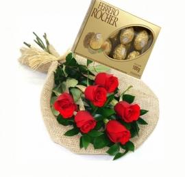 Buqu� com Mini Ferrero Rocher - 4568