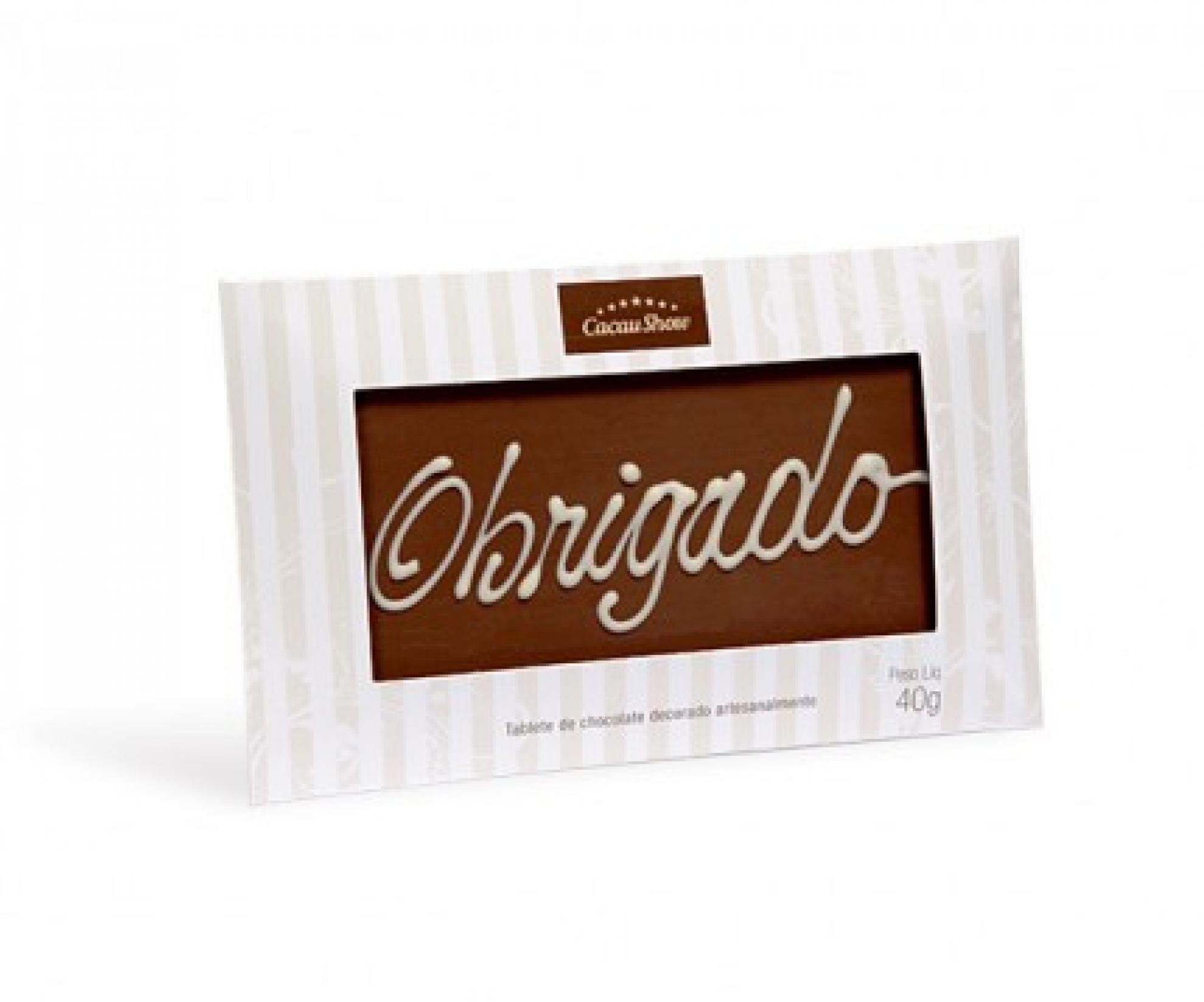 Chocolate Obrigado Cacau Show - 1046