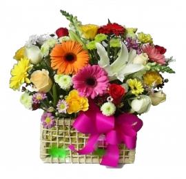 Cesta de Flores - 1041