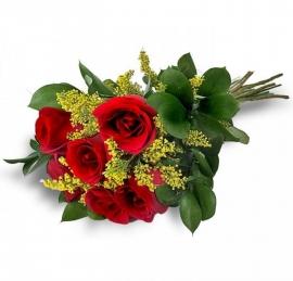 Buqu� Tradicional de Seis Rosas - 1121