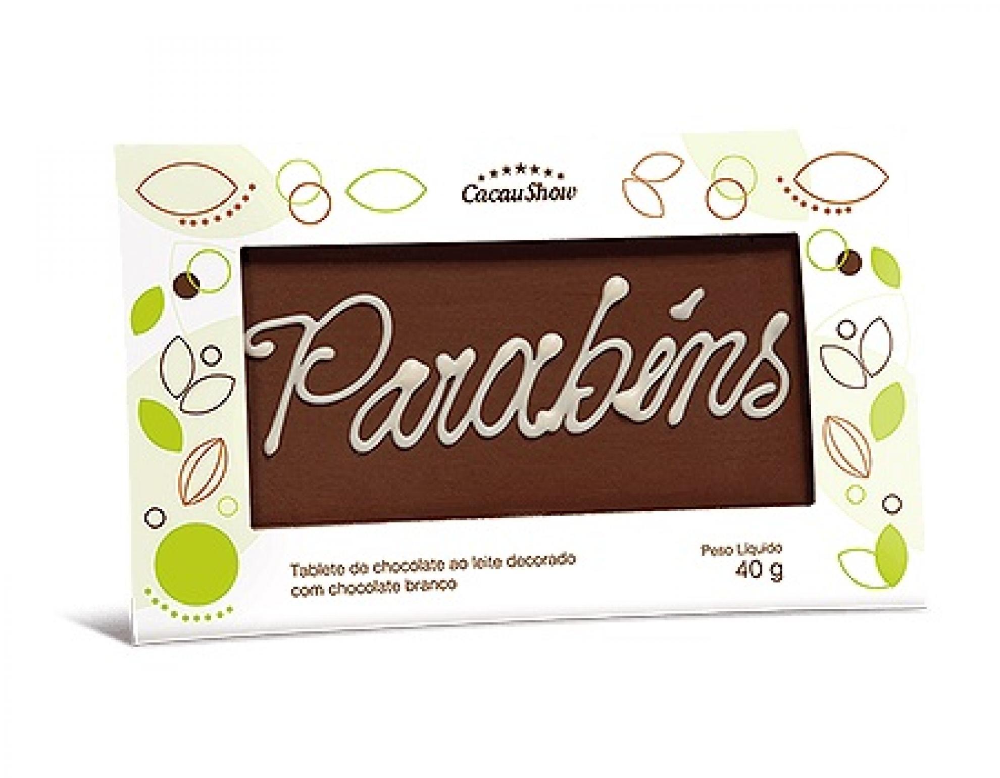 Chocolate Mensagem Cacau Show - 6102